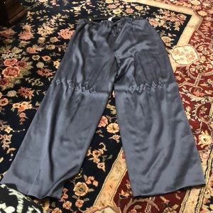 100% silk drawstring pants. Size 16
